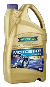 Моторное масло Ravenol Motobike 4-T Ester SAE 10W-60 4 л