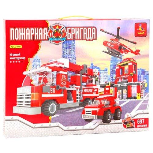 Конструктор Ausini Пожарная бригада 21901 автотрек эл пожарная бригада техника 5 шт деталь 31 шт эл пит не вх в комплект