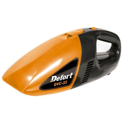 Пылесос автомобильный DeFort DVC-35, оранжевый/черный