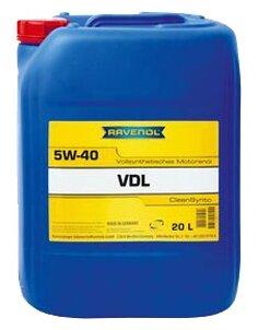 Моторное масло Ravenol VDL SAE 5W-40 20 л
