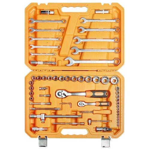 Набор автомобильных инструментов Airline (59 предм.) AT-59-06 оранжевый набор инструментов универсальный 132 предмета фонарь пласт кейс airline at 132 09