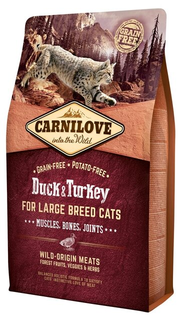 Корм для кошек Carnilove Duck & Turkey for Large breed cats