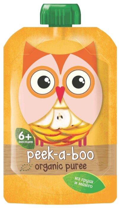 Пюре Peek-a-boo груша манго (с 6 месяцев) 113 г, 1 шт