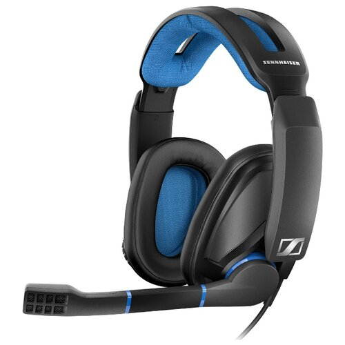 Компьютерная гарнитура Sennheiser GSP 300 black/blue игровая гарнитура sennheiser gsp 301 507202