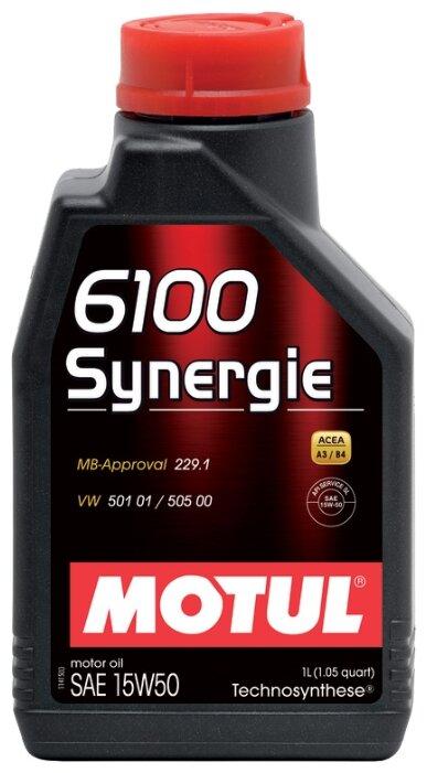 Моторное масло Motul 6100 Synergie 15W50 1 л