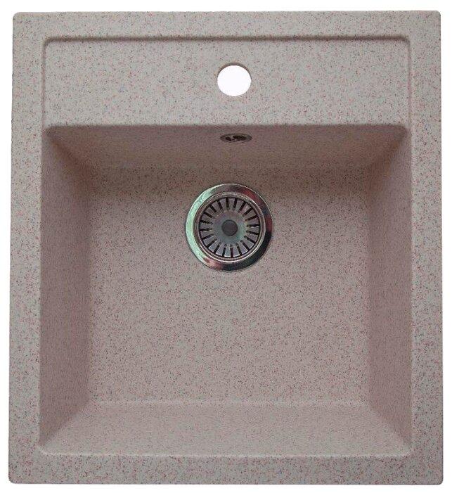 Врезная кухонная мойка Granicom G-021 45.5х50см искусственный мрамор