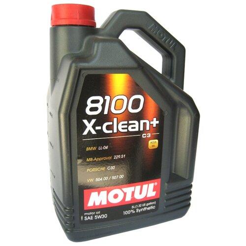 Моторное масло Motul 8100 X-clean+ 5W30 5 л моторное масло motul 8100 x clean fe 5w 30 1 л