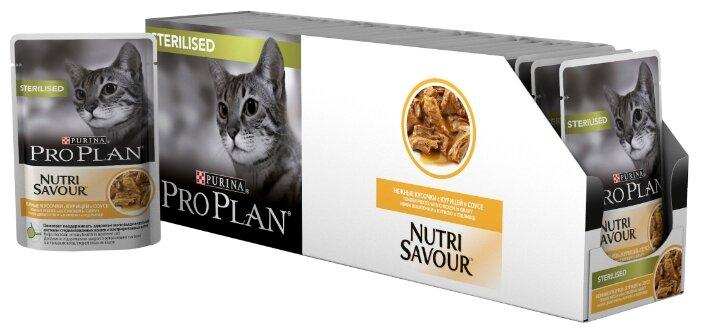 Purina Pro Plan (0.085 кг) 24 шт. NutriSavour Sterilised feline with Chicken in gravy