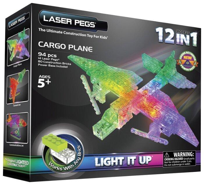 Конструктор Laser Pegs Triangle Power Base G1670B Грузовой самолет 12 в 1
