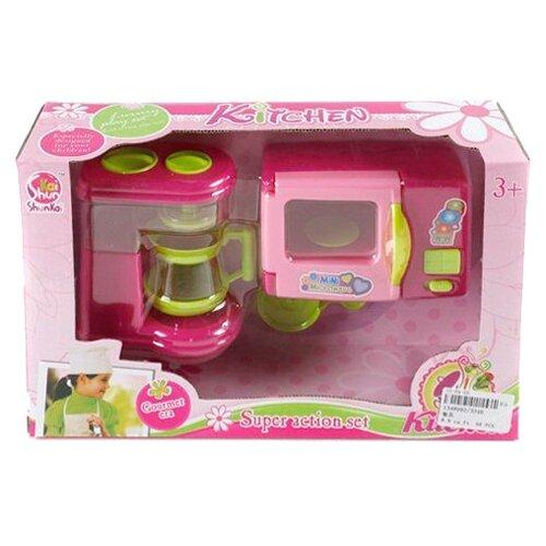 Набор Shantou Gepai Kitchen 334B зеленый/розовый, Детские кухни и бытовая техника  - купить со скидкой
