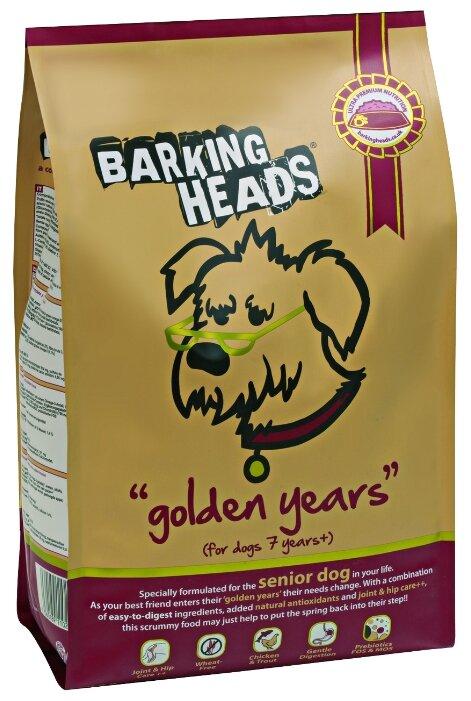 Корм для собак Barking Heads Корм для собак старше 7 лет с курицей и рисом Золотые годы (6 кг)