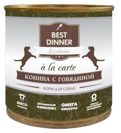 Корм для собак Best Dinner A la Carte для собак Конина с Говядиной (0.24 кг) 12 шт.