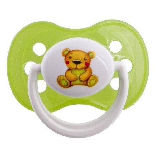 Купить Пустышка силиконовая анатомическая Canpol Babies Milky 0-6 м (1 шт) зеленый, Пустышки и аксессуары