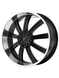 KMC 9,5x24/6x135*6x139,7 ET35 D78,1 KM672 Black/Machined - фото 1