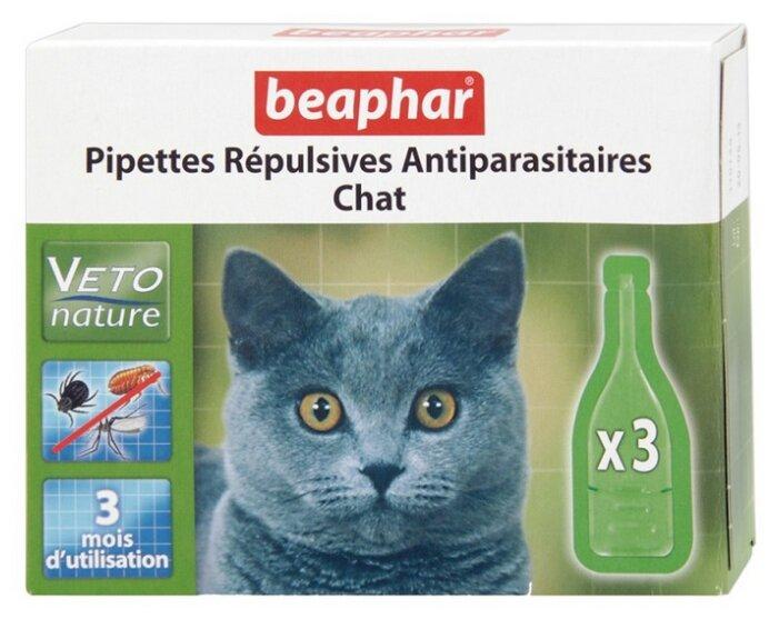 Beaphar Капли Био от блох, клещей и комаров для кошек 3 пипетки