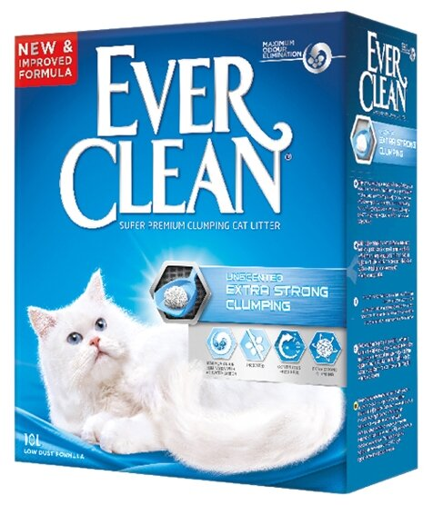 Ever Clean Extra Strong Clumping Unscented 10 л
