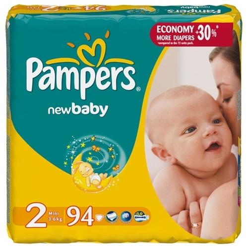 1b61c036dfa5 Купить Pampers подгузники New Baby 2 (3-6 кг) 94 шт. по выгодной ...
