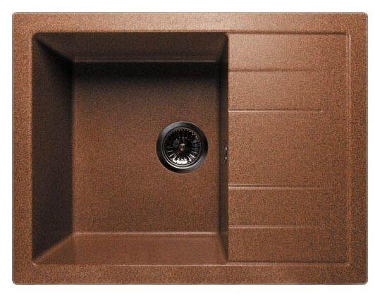 Врезная кухонная мойка GranFest Quadro GF-Q650L 65х50см искусственный мрамор