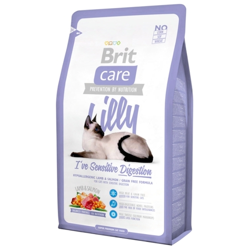 Корм для кошек Brit (2 кг) Care Lilly I've Sensitive Digestion