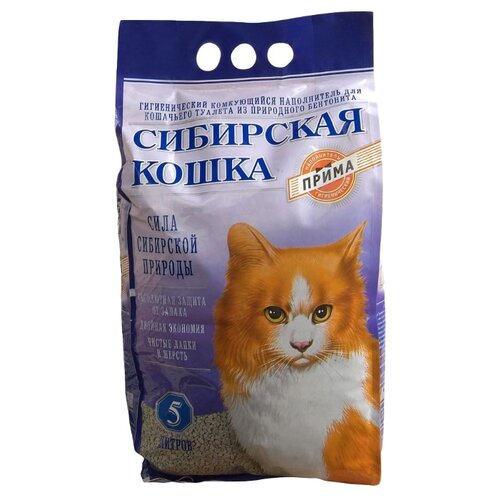 Наполнитель Сибирская кошка Прима (5 л)Наполнители для кошачьих туалетов<br>