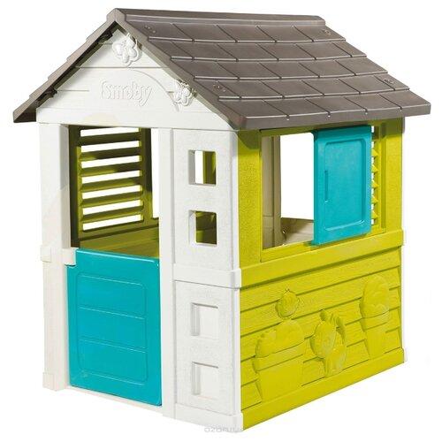 Купить Домик Smoby Pretty/Nature 310064/810704/810710 зеленый/серый, Игровые домики и палатки