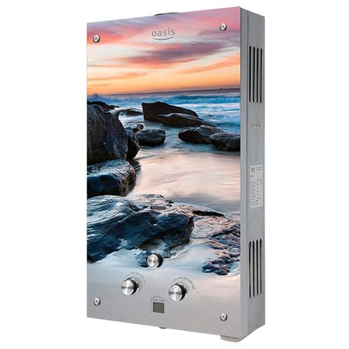 Проточный газовый водонагреватель Oasis Glass 20МG проточный электрический водонагреватель oasis np w белый