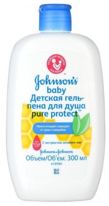 Johnson's Baby Гель-пена для душа Pure Protect