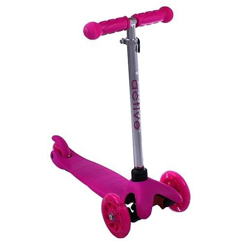 Детский кикборд Triumf Active Mini Up Flash SKL-06AH, розовый детский кикборд triumf active mini up flash skl 06ah оранжевый