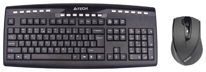 A4Tech Клавиатура и мышь A4Tech 9200F Black USB