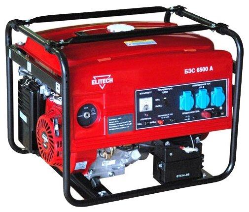 Бензиновый генератор ELITECH БЭС 6500 А (5000 Вт)