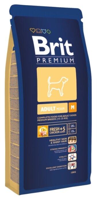 Корм для собак Brit Premium Adult M
