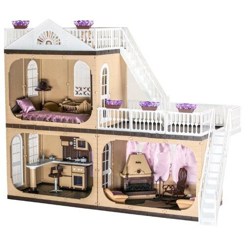 Купить ОГОНЁК Коттедж Коллекция С-1292, бежевый/белый, Кукольные домики