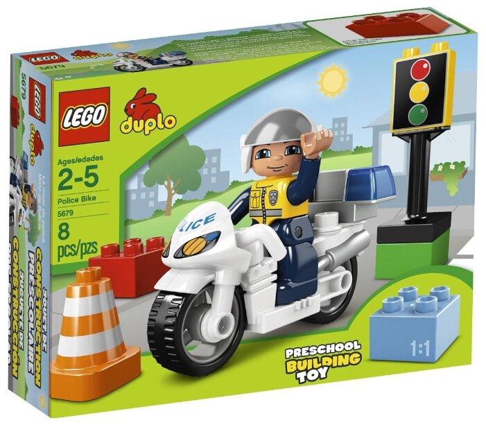 Конструктор LEGO Duplo 5679 Полицейский мотоцикл