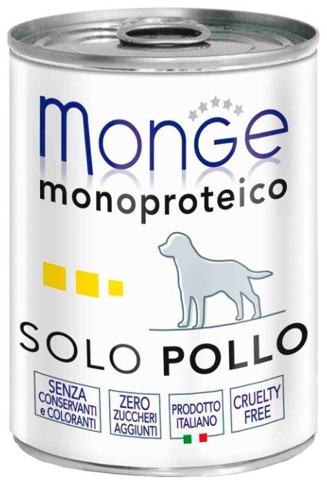 Корм для собак Monge Monoprotein курица 24шт. х 400г