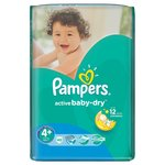 Pampers Active Baby-Dry 4+ (9-16 кг)