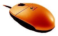 Мышь Logitech Cordless Mini Optical Mouse Orange USB