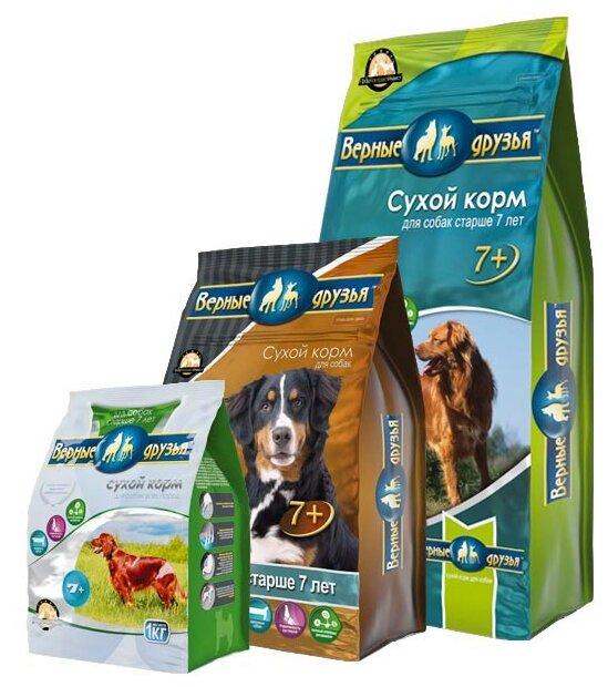 Корм для собак Верные друзья Сухой для пожилых собак