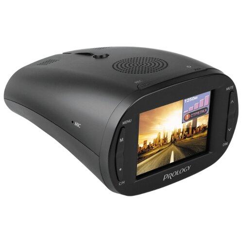 Видеорегистратор с радар-детектором Prology iOne-1000, GPS черный  - купить со скидкой