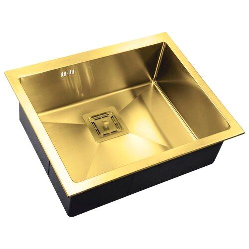Фото - Врезная кухонная мойка 58 см ZorG PVD SZR-5844 BRONZE бронза врезная кухонная мойка 78 см zorg szr 78 2 51 r bronze бронза