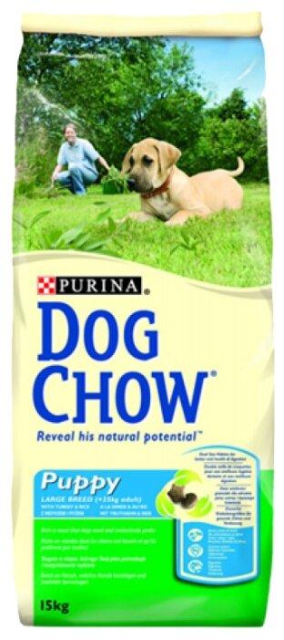 Корм для собак DOG CHOW Puppy Large Breed с индейкой для щенков крупных пород