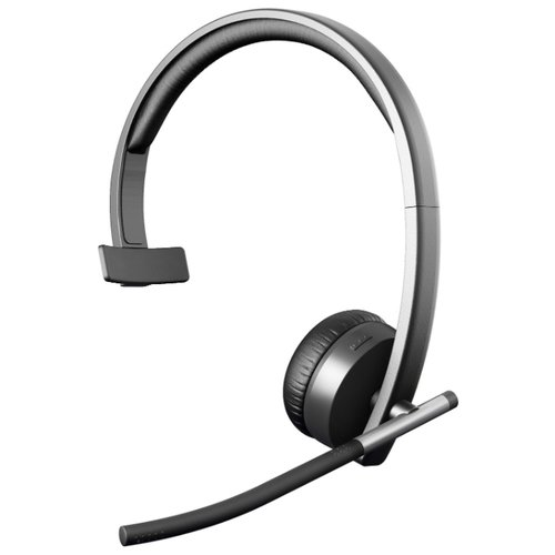 Компьютерная гарнитура Logitech Wireless Headset Mono H820e черный беспроводная гарнитура logitech wireless headset h820e mono 981 000512