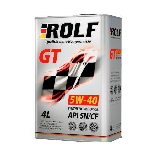 Синтетическое моторное масло ROLF GT 5W-40 SN/CF, 4 л синтетическое моторное масло rixx tp x 5w 40 sn cf a3 b4 4 л