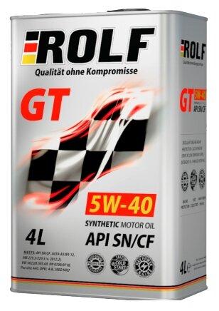Моторное масло ROLF GT 5W-40 SN/CF 4 л