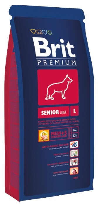 Корм для собак Brit Premium Senior L