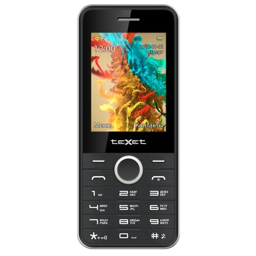 Телефон teXet TM-D301 черный