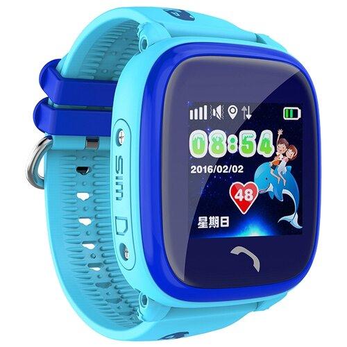 Детские умные часы c GPS Smart Baby Watch DF25G голубой детские умные часы c gps smart baby watch kt03 голубой синий