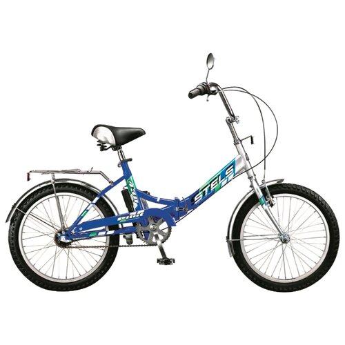 Городской велосипед STELS Pilot 430 20 (2015) серебристый/синий 15 (требует финальной сборки) велосипед tern verge p9 2015
