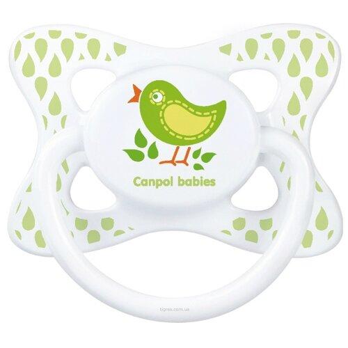 Купить Пустышка силиконовая анатомическая Canpol Babies Summertime 18+ (1 шт) салатовый, Пустышки и аксессуары