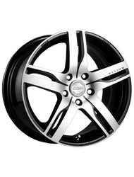 Диски Racing Wheels H-459 7,0x16 5x105 D56.6 ET40 цвет BK/FP - фото 1