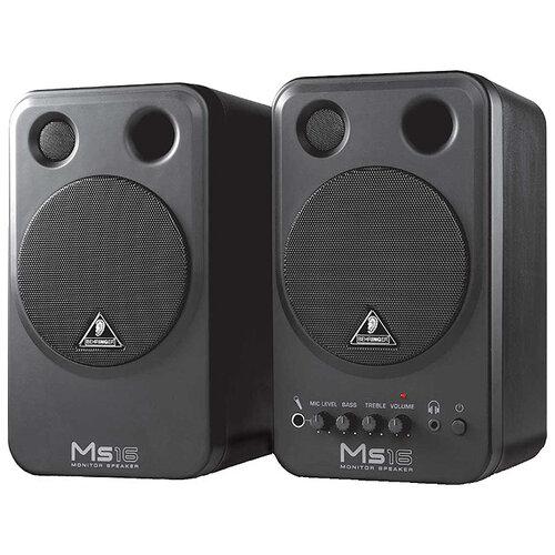 Полочная акустическая система BEHRINGER Monitor Speakers MS16 черный